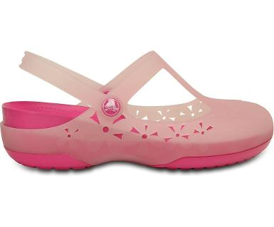 crocs carlie mary jane flower