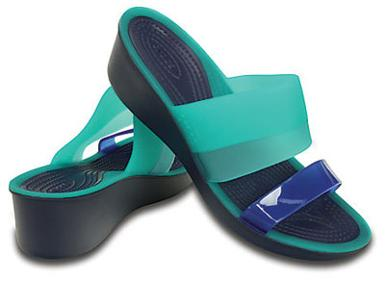 Crocs Color Block Translucent Mini Wedge